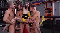 MMMF – HARD STANDING ANAL ON BOXING RING