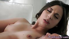 Glamour babe buttfucked by lover