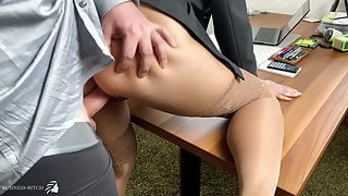 boss uses secretary and fills all her holes -projectsexdiary