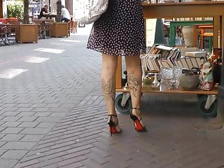 Sexy titties and legs - Sexy feet and legs in high heel sandals