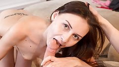 Couch Fuck For Hot Brunette Lily Cat