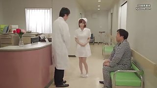 Cute nurse has to give amazing blowjobs for her patient  p6