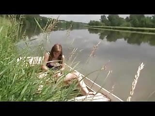 Vidios of sex on lake - Nude beach - cute teen mastubating on lake