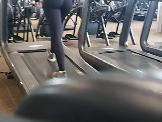 Teen girls biracial videos - Candid biracial fit booty beauty on treadmill quickie