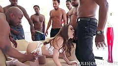 Jules Jordan - Riley Reid Interracial Gangbang!