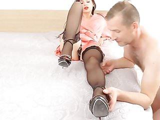 Sex femme et enfant Lamant, la femme et le mari soumis