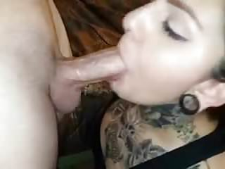 Fat gothic sluts Tattood slut deepthroats big cock