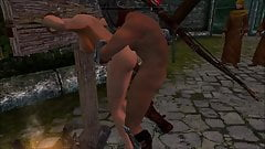 Perils of escaped Skyrim slavegirl 17