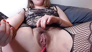 Girl with beautiful hairy pussy.