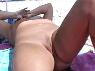 My x naked on the beach Mature masturbating naked on the beach
