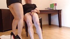 creampie in office with my Boss