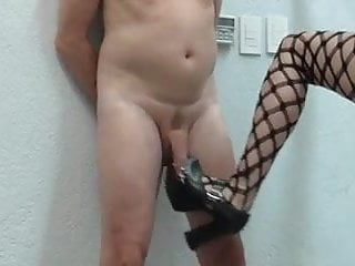 Mature femdom torture Ball busting cock being burn torture
