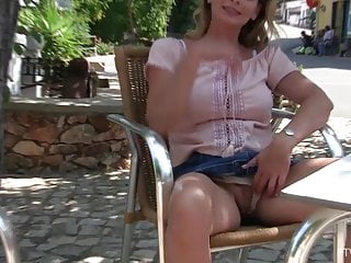 Portugal xxx tube - Big tits milf elegant eve flashes and plays in portugal